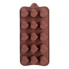 Силикон за шоколадови бонбони - сърчица