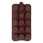 Силикон за шоколадови бонбони - цветя