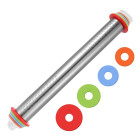 Метална точилка OEM - гладка с пръстени - 43 см
