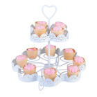 Декоративна стойка за мъфини със сърчице