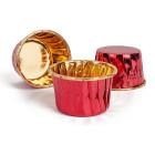 Кофички за мъфини - червени златисто фолирани 25 бр.
