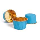 Кофички за мъфини - сини златисто фолирани 25 бр.