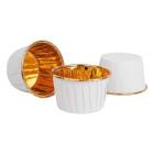 Кофички за мъфини - бели златисто фолирани 25 бр.