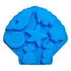 Силиконова форма за печене - морски животни 6 бр.