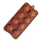 Силиконов калъп за шоколад - морски животни #02