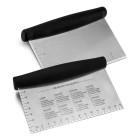 Нож за тесто с мерни единици #02