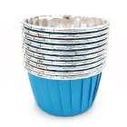 Кофички за мъфини - синьо сребристо фолирани 25 бр.