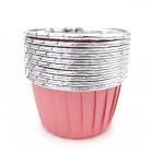 Кофички за мъфини - розово сребристо фолирани 25 бр.