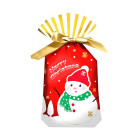 Декоративна торбичка с панделка OEM - Snowman