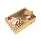 Декоративна кутия с прозорец - Дядо Коледа