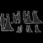 Текстурен борд - сватбени силуети