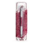 Декоративна писалка - винено червена
