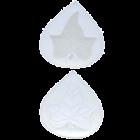Силиконова форма и резец - лист от бръшлян