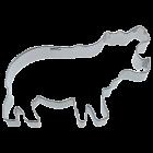Метален резец - хипопотам
