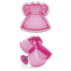 Щампа с форма на детска рокля