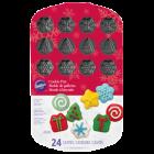Тава за бисквитки и мъфини - Коледа - 24 фигури