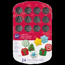 Мъфини и торти - Тава за бисквитки и мъфини - Коледа - 24 фигури