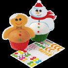 Топър за кекс - Снежни Човеци