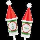 Декоративни етикети за Cake Pops - Коледна шапка