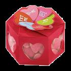 Декоративни шестоъгълни кутии - сърца с надписи