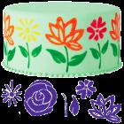Комплект декоративни шаблони - цветя #2